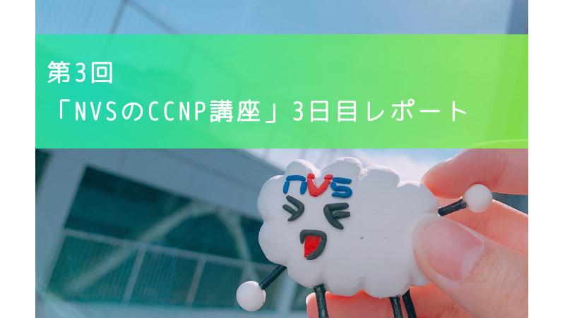 【スキルアップ】第3回「NVSのCCNP講座」3日目レポート