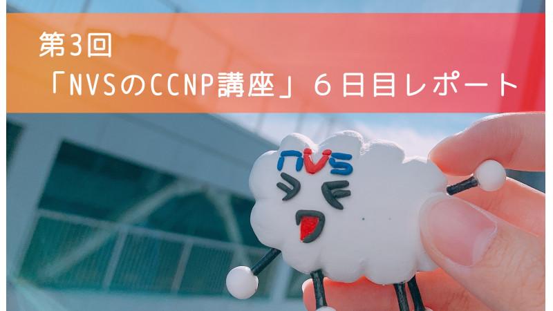 【スキルアップ】第3回「NVSのCCNP講座」6日目レポート